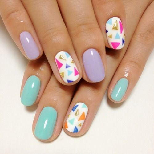 nails with triangles