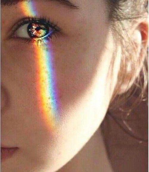 как сделать радугу на лице