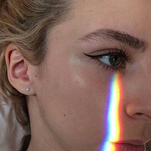 как сделать эффект радуги на лице