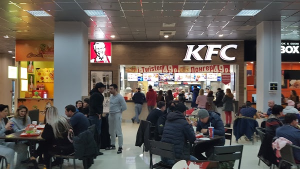 food court in shopping center plaza in yerevan