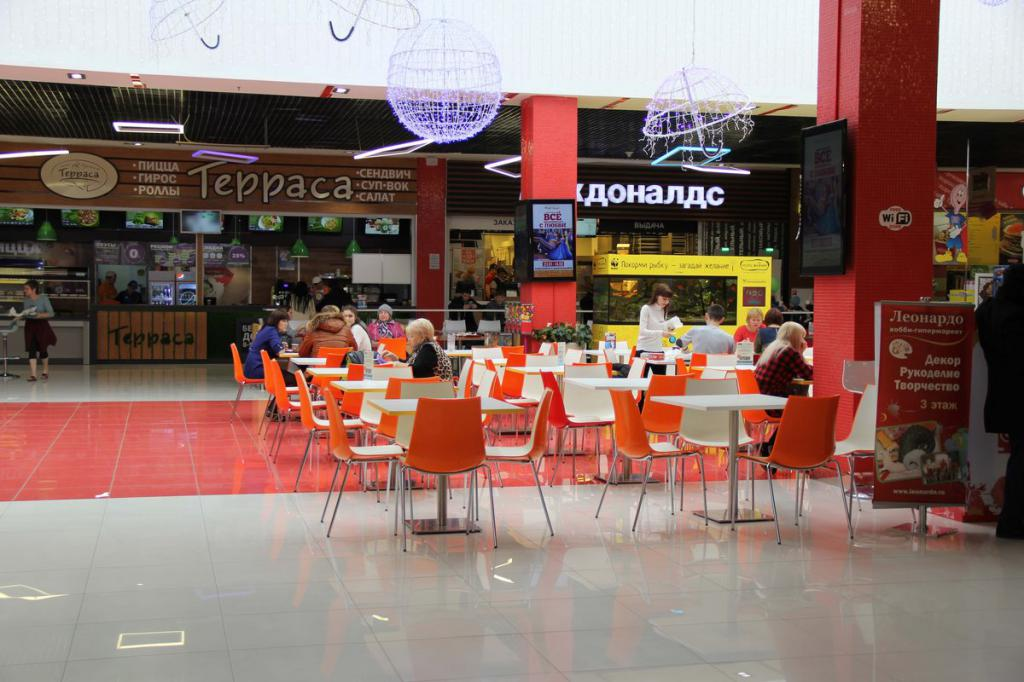 Food court in the marmalade shopping center in Taganrog