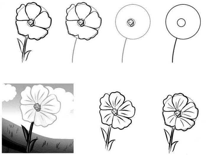 Как нарисовать цветик семицветик