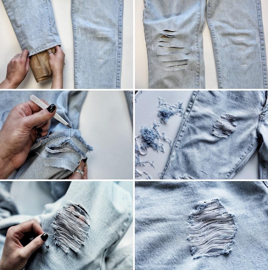 Мятые джинсы своими руками 67