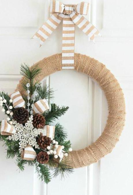 украшение рождественского венка