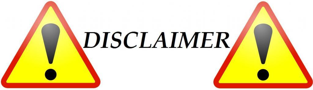 disclaimer sample text