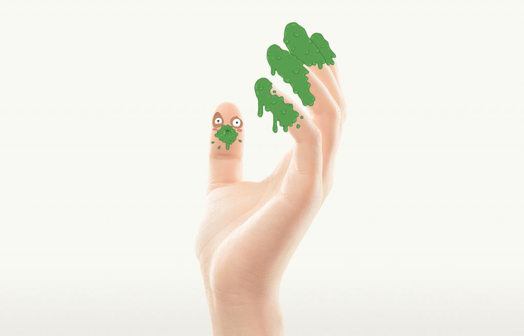 водяные прыщики на пальцах рук причины