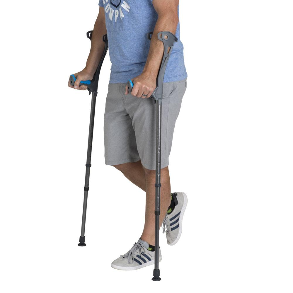 how to pick up crutches