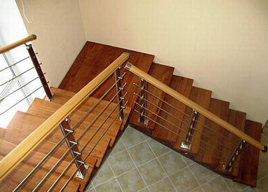 DIY spiral staircase to the second floor