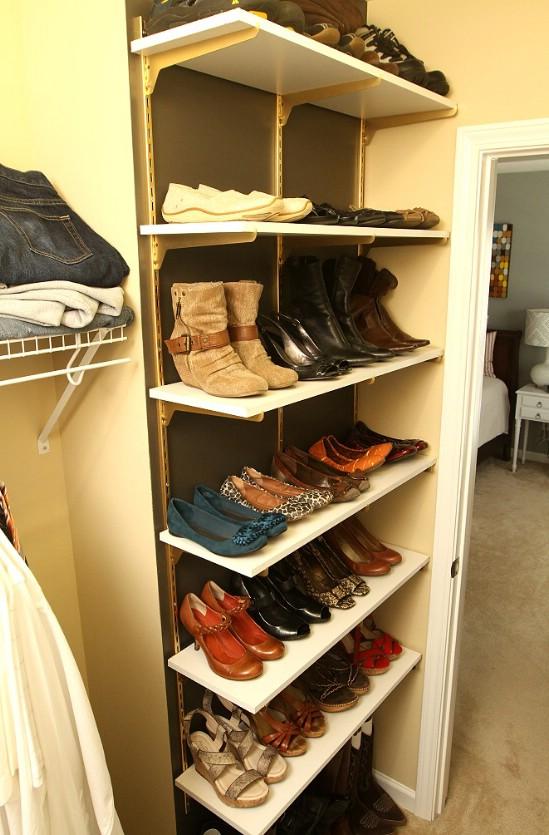 Homemade shoe rack