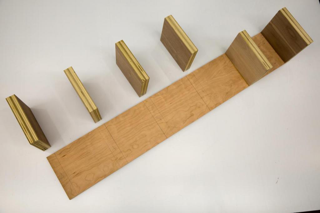Wooden shoe shelf