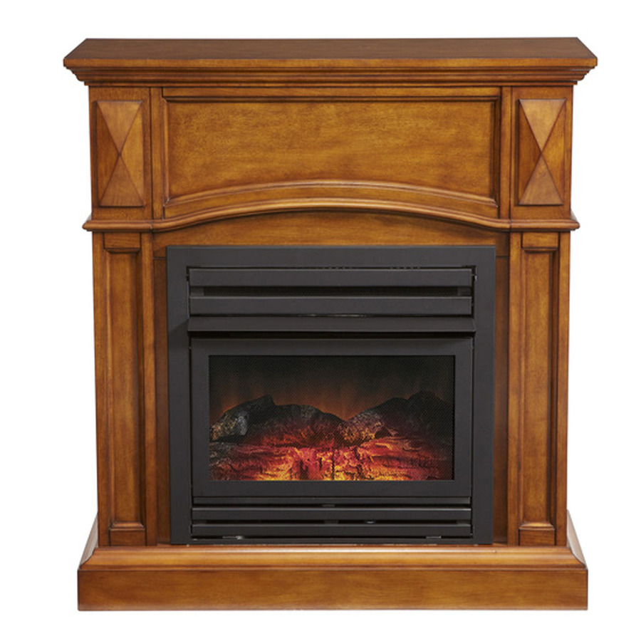 do-it-yourself wood portal for a fireplace