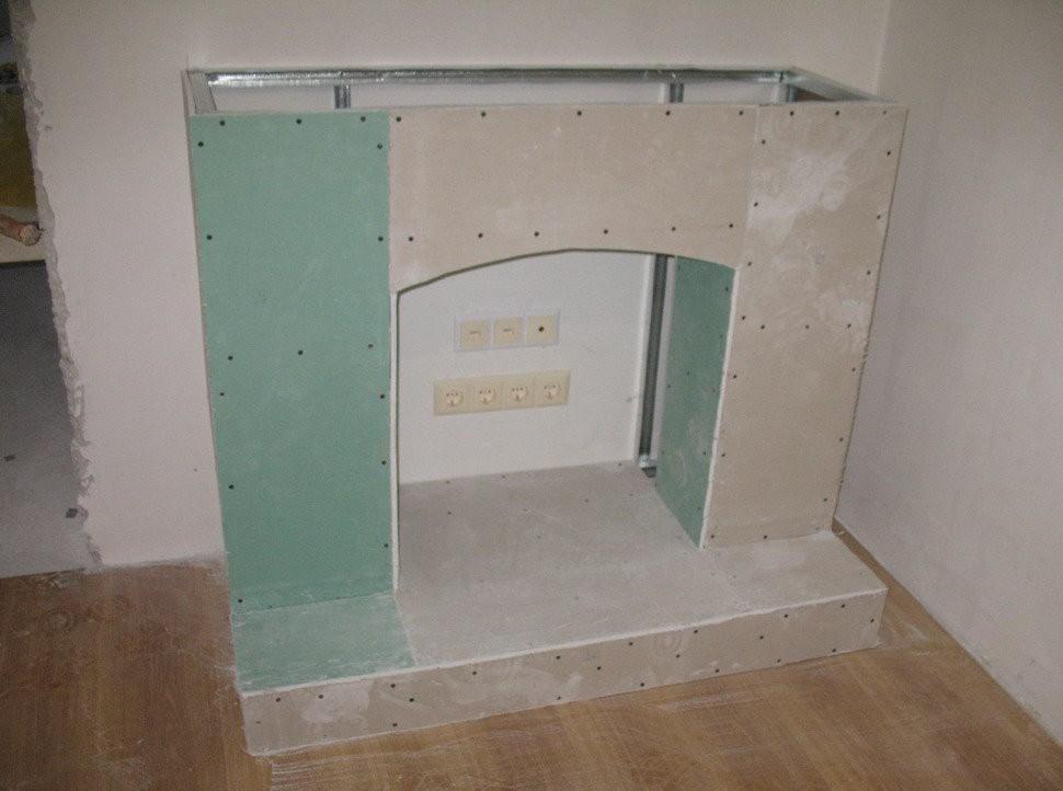 do-it-yourself decorative fireplace portal