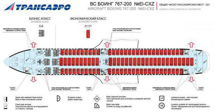B763 самолет схема салона катэкавиа 825