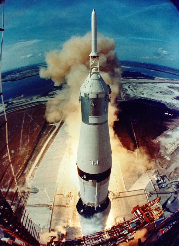 """Запуск """"Сатурн-5"""" в 1969 году"""