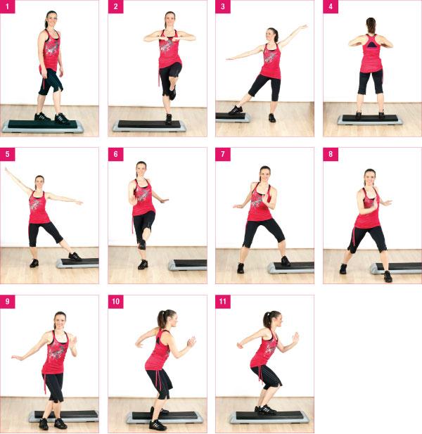степ упражнения в картинках моменты
