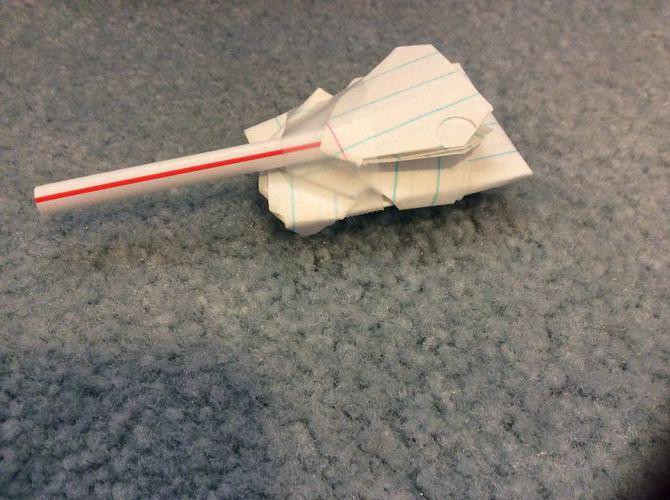 как сделать танк из бумаги легко