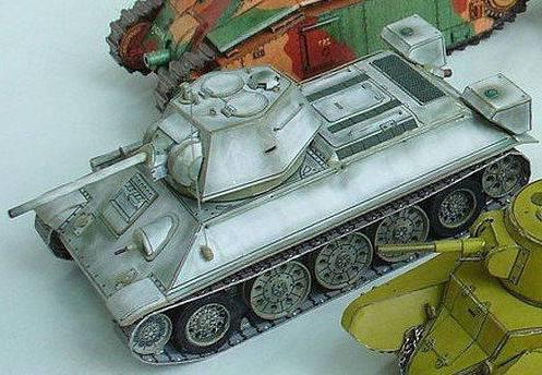 как сделать из бумаги танк т34