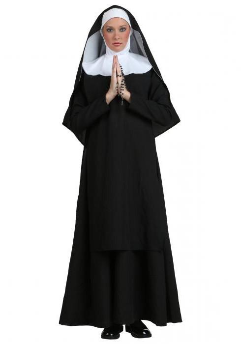костюм монашки на хэллоун своими руками