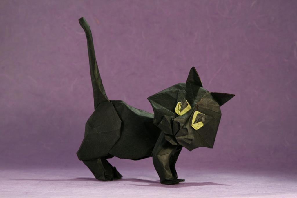 великих кот оригами картинка очевидное заметное