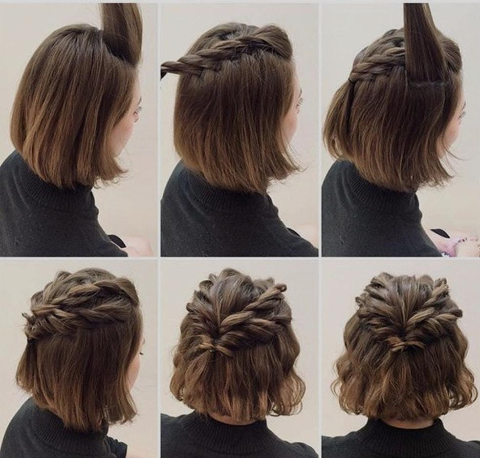 укладка на короткие волосы для женщин