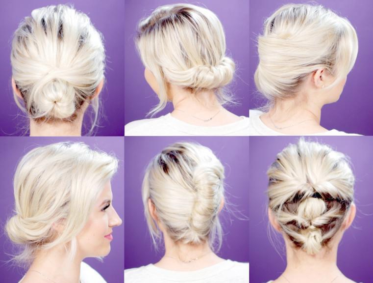 укладка на короткие волосы на каждый день