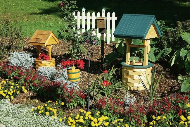 do-it-yourself decorative well for the garden