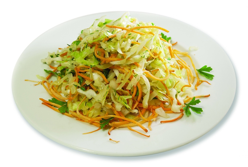 fresh cabbage and carrot salad