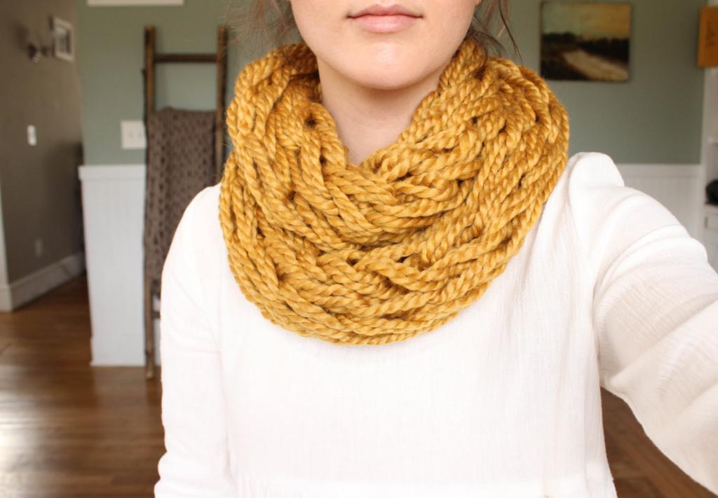 Вязание шарфа спицами: фото, описание