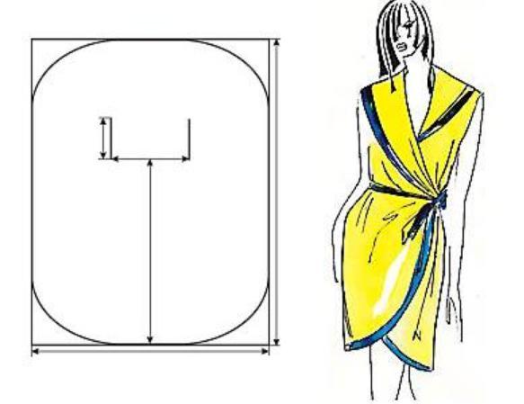2478185 Выкройка халата на ткани