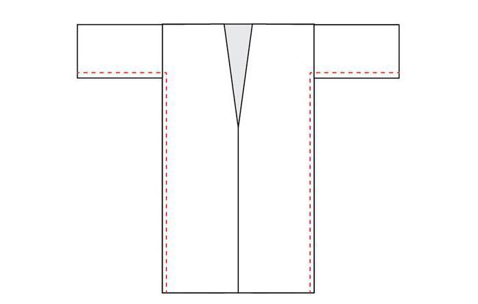 2478262 Выкройка халата на ткани