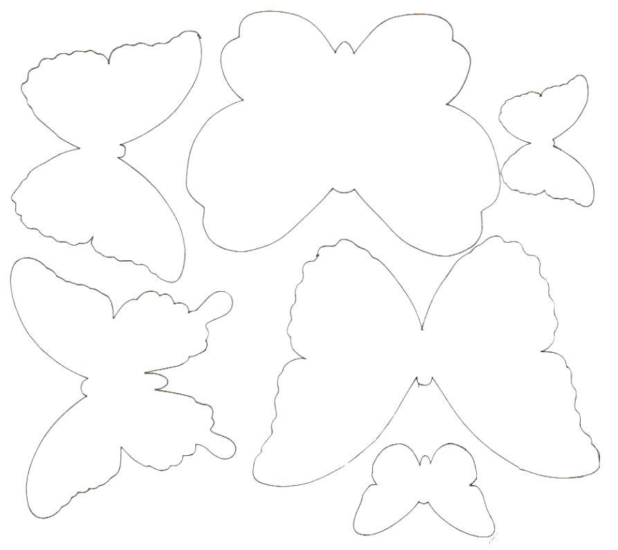 Бабочки на открытку своими руками шаблоны