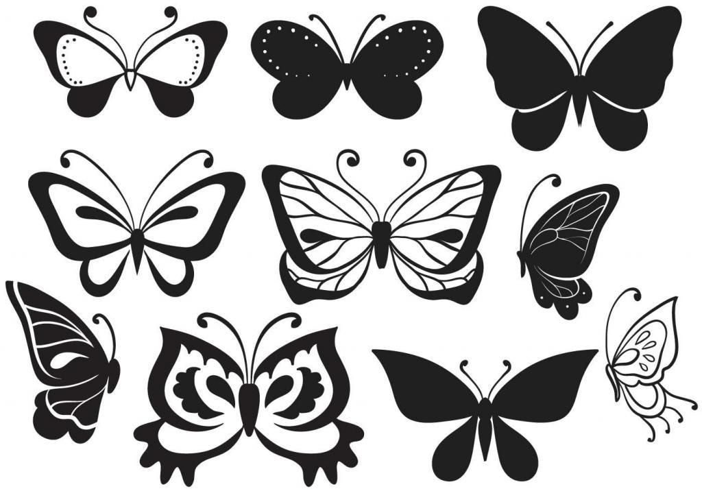 Картинки бабочек для вырезания распечатать, россии