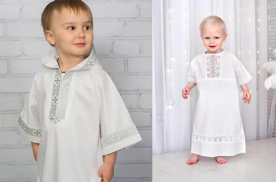 крестильная рубашка для мальчика пошив