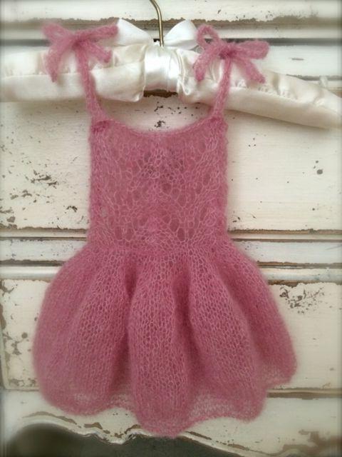 вязаное платье для девочки 1 год
