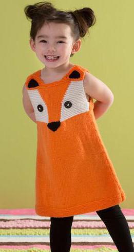 платье вязаное спицами для девочки 1 года