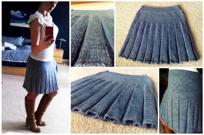 Как связать юбку