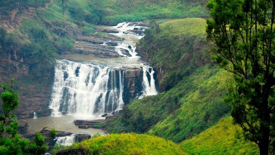 map of waterfalls sri lanka