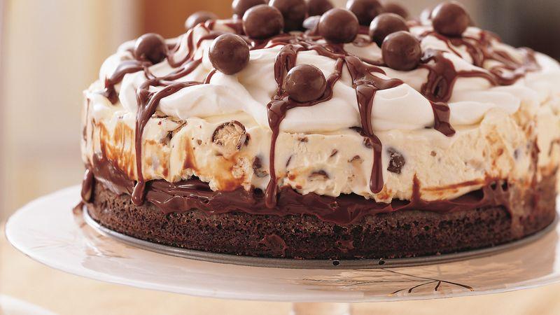 Классический шоколадный торт-мороженое
