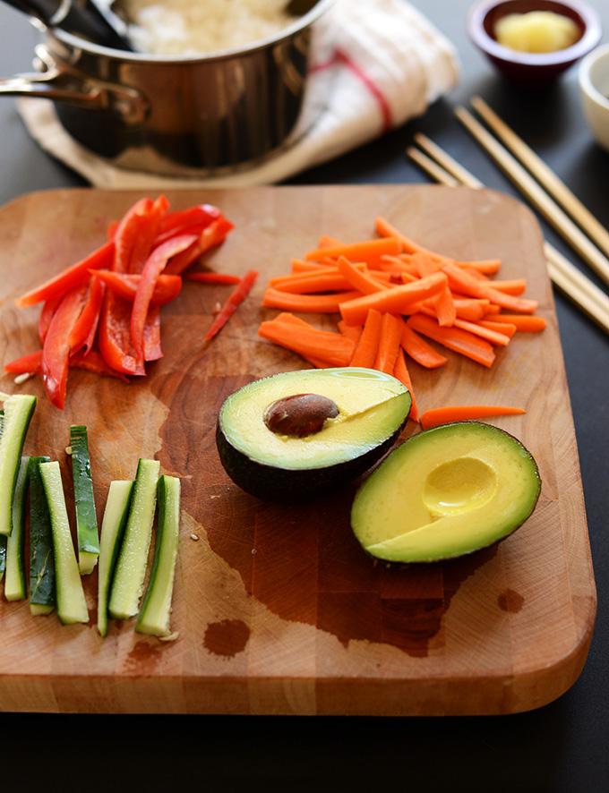 Ингредиенты для приготовления роллов