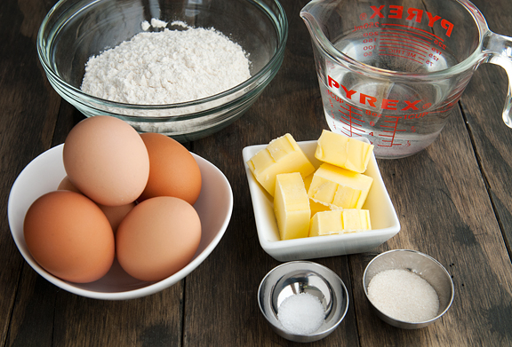 Ingredients for making biscuit