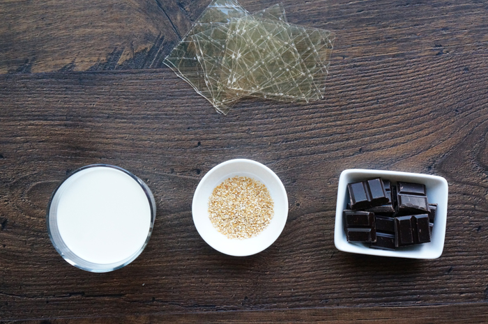 Products for chocolate panna cotta