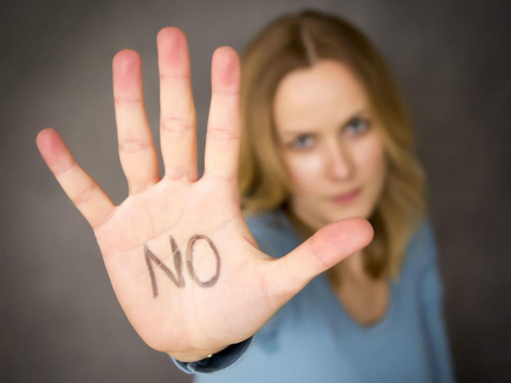 Картинка умей говорить нет