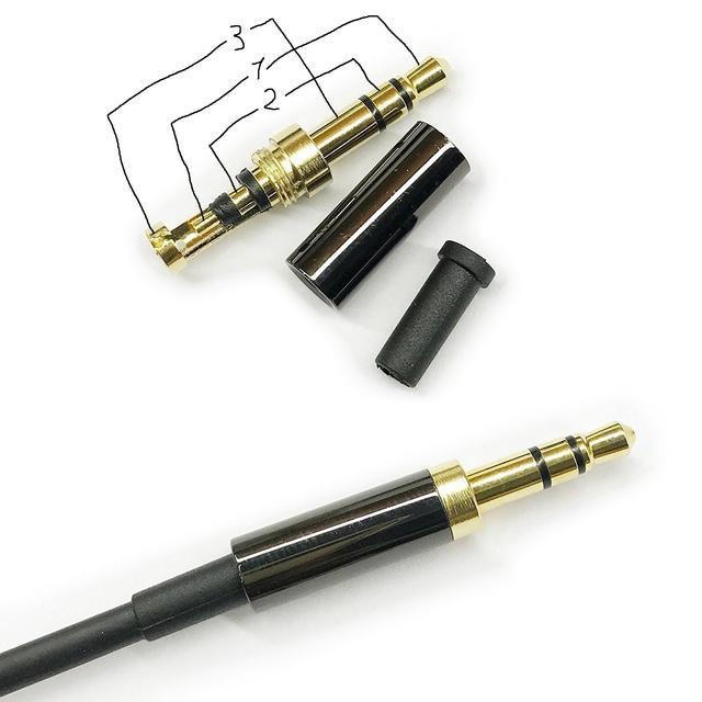 как припаять штекер к наушникам 3 провода