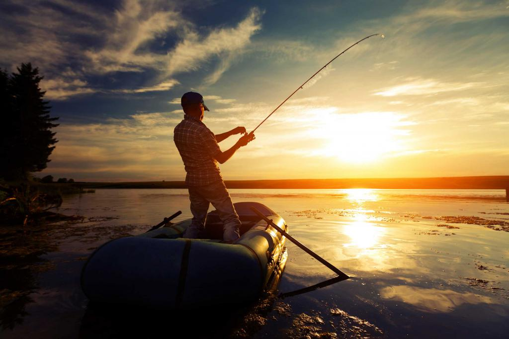 Картинка мужчина рыбак