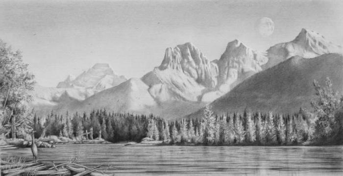Картины простым карандашом пейзаж