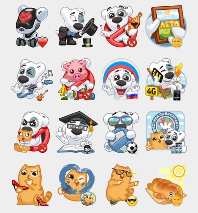 Стикеры Вконтакте
