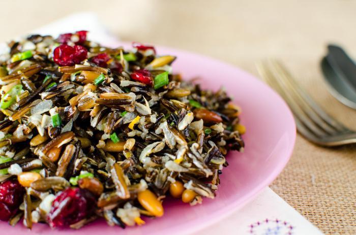 рис дикий калорийность