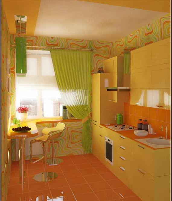интерьер дизайн маленькой кухни: