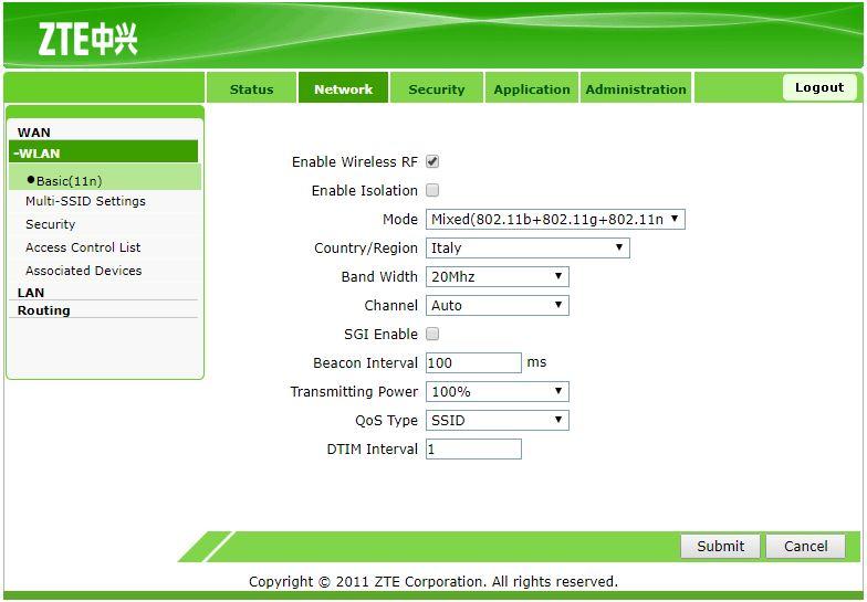 WIFI панель ZTE