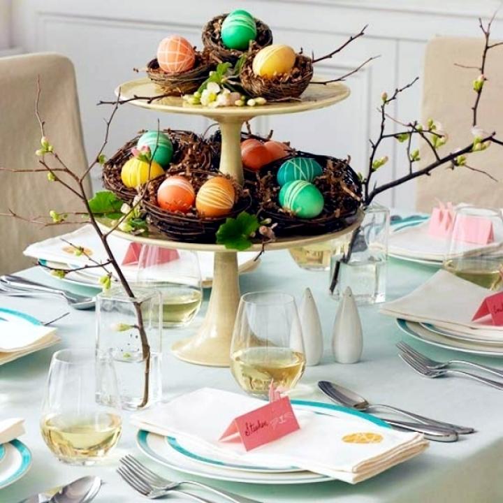 закат весна как украсить пасхальный стол с фото этом случае